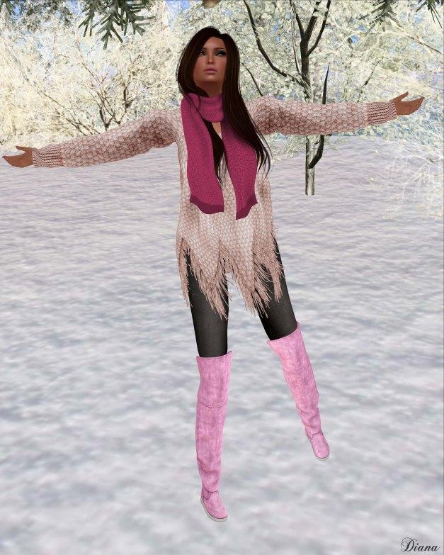 Zenith - Rose Fringe Sweater