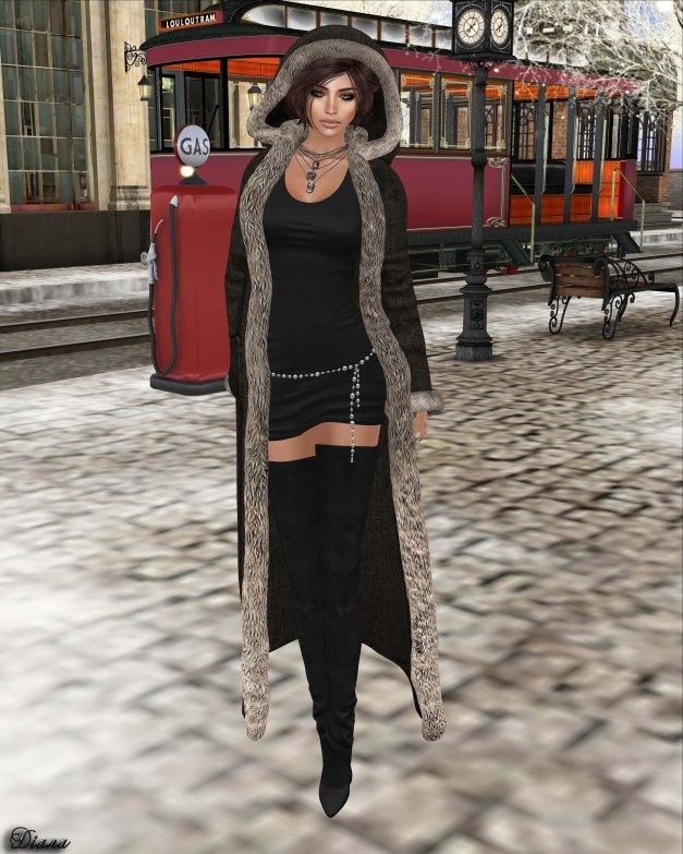 !APHORISM! - Winter Coat Black-1
