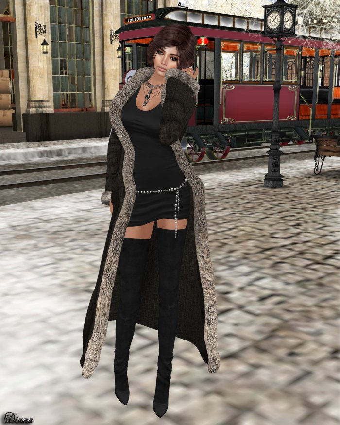 !APHORISM! - Winter Coat Black-2