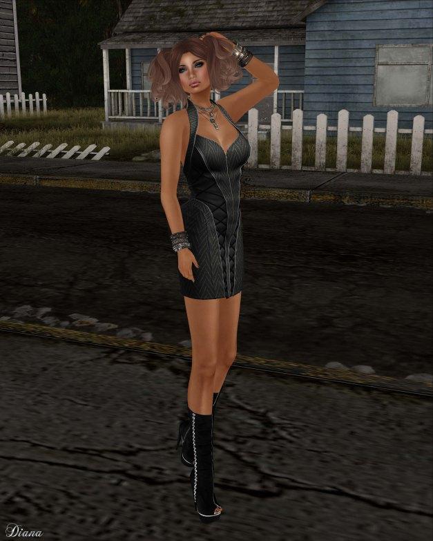 BodyCult - Mesh Neckholder Dress Carmen black