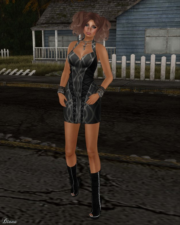 BodyCult - Mesh Neckholder Dress MarySue black