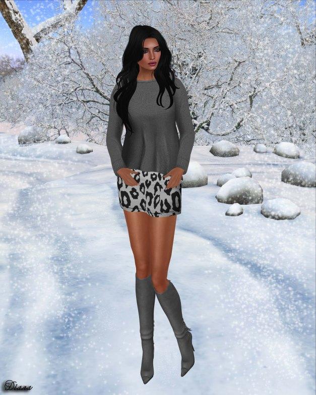 Emery - Paz Knit Sweater and Zoe Leopard Skirt-1