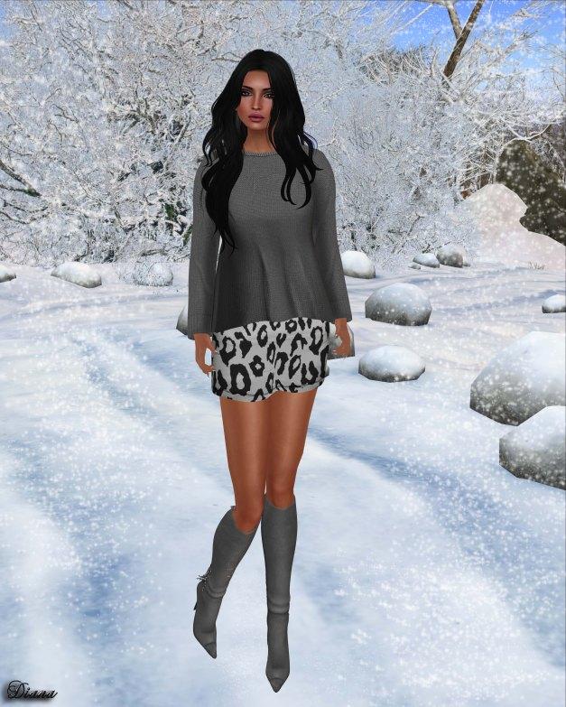 Emery - Paz Knit Sweater and Zoe Leopard Skirt-2