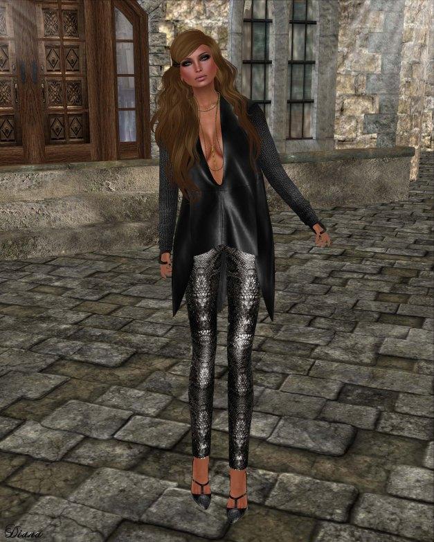 GizzA - Ashly Leather Tunic Black