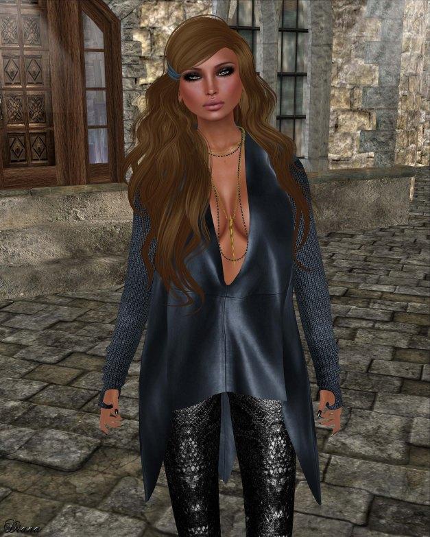 GizzA - Ashly Leather Tunic Blue