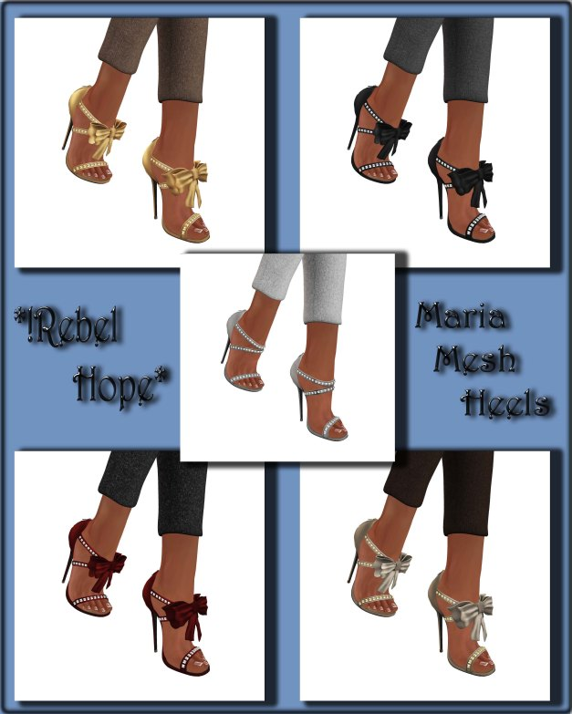 !Rebel Hope - Maria Mesh Heels