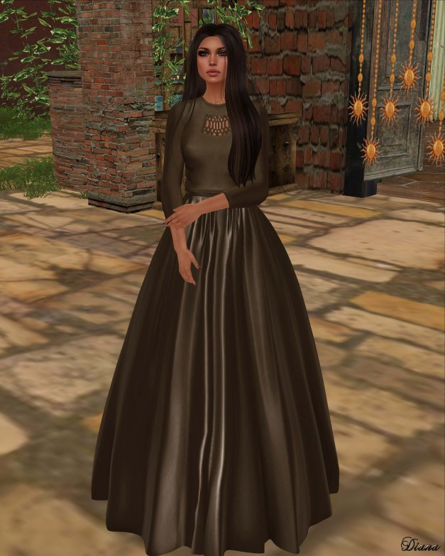 Baiastice - Cleo Sweater and Nayra Long Skirt Sepia