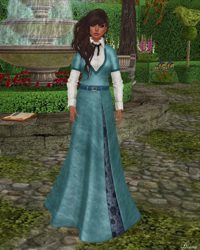 Baiastice - Drey Combo-SweaterShirt and Joan-Long Suede skirt cian