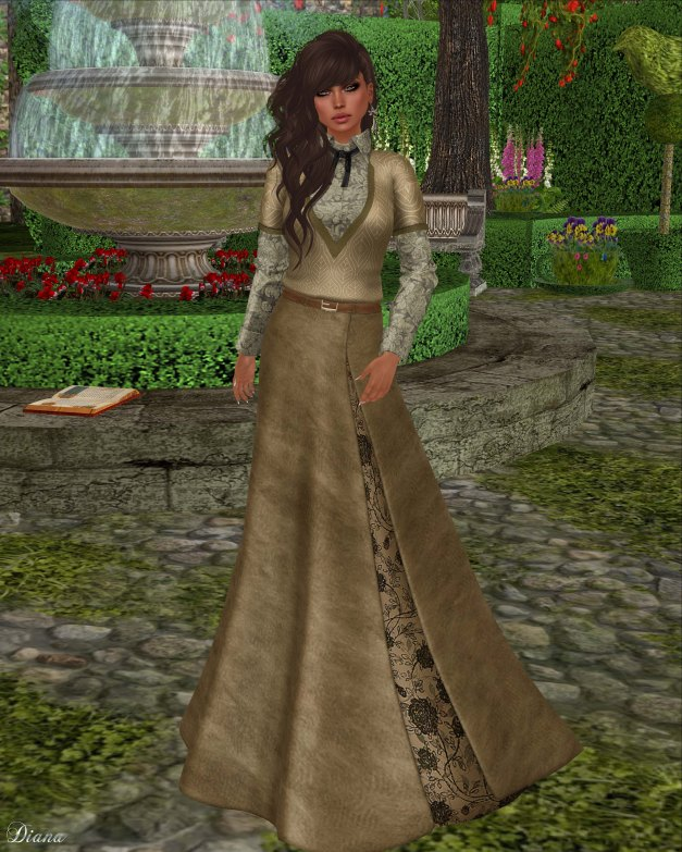 Baiastice - Drey Combo-SweaterShirt and Joan-Long Suede skirt sand