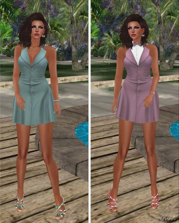 coldLogic - dress aston minty and pinky