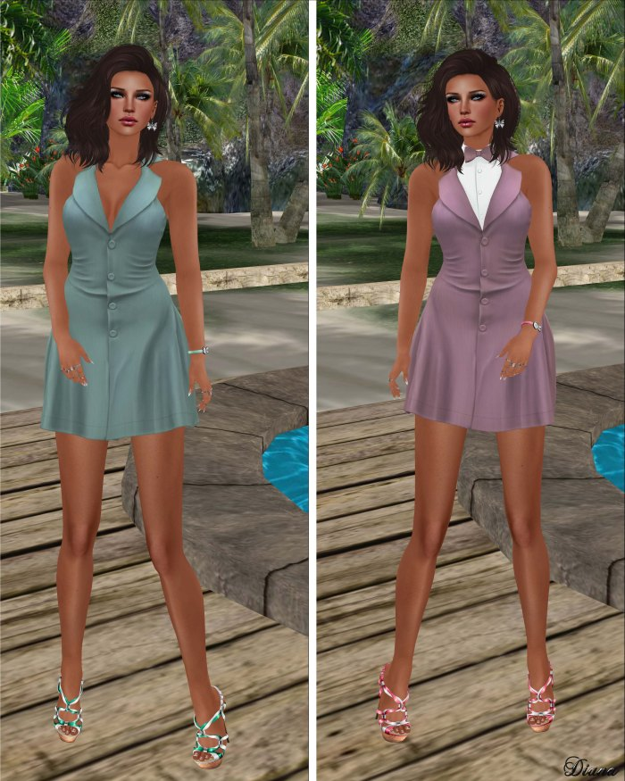 coldLogic - dress aston minty and pinky