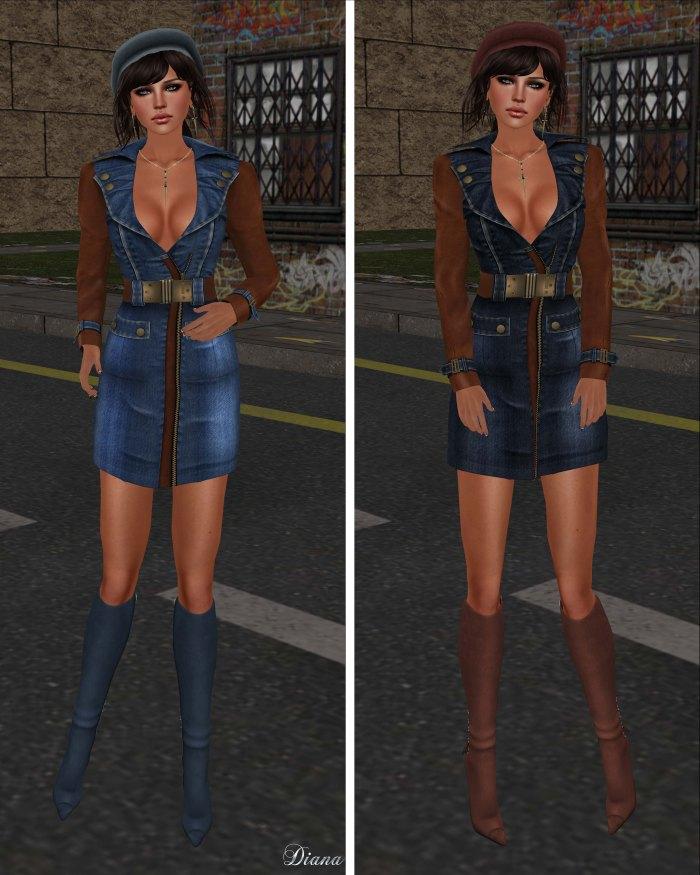 GizzA - Army Denim Dress Blue and Dark Blue