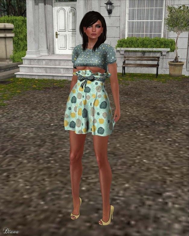Immerschoen-BodyCult - HighWaist Skirt Set Melodie custard