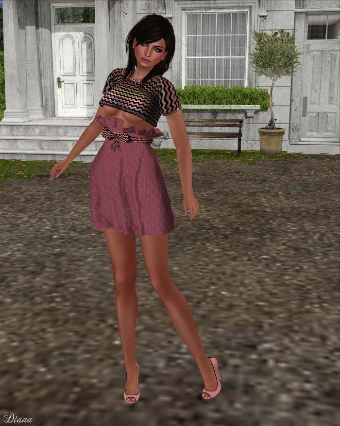 Immerschoen-BodyCult - HighWaist Skirt Set Melodie marsala