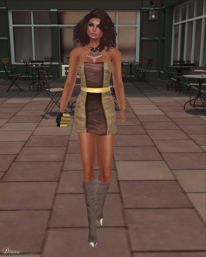 Baiastice - Damie Zip Dress-Sand