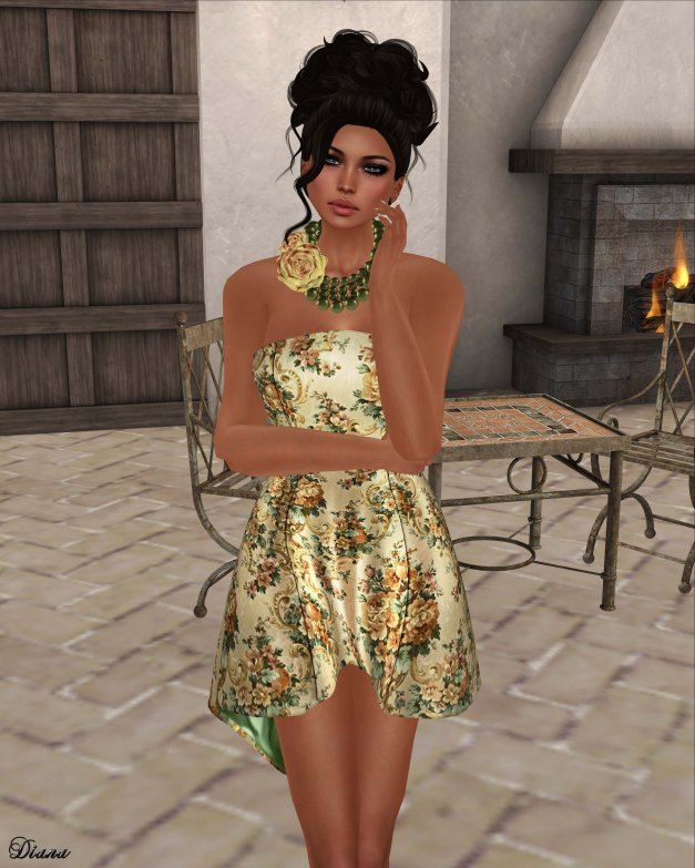GizzA - Absinthe Dress Vintage Cream