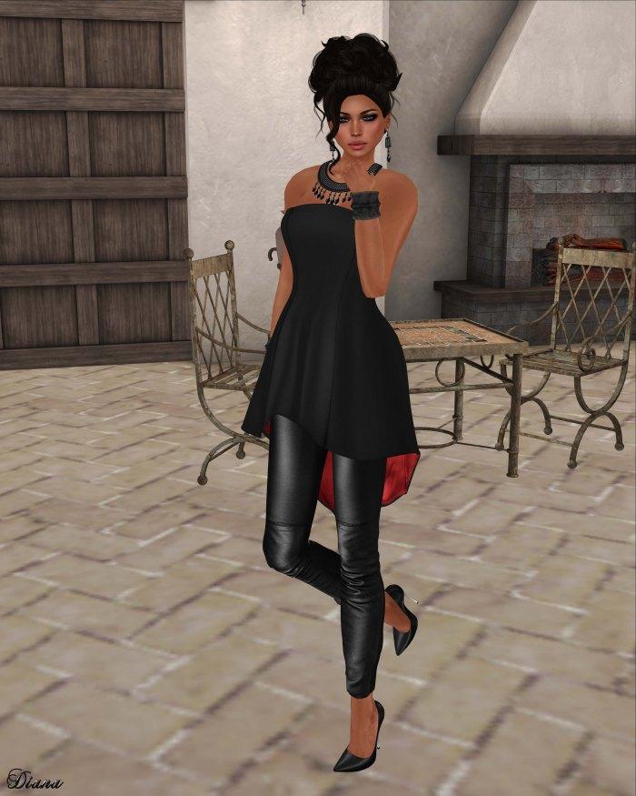 GizzA - Absinthe Legging Dress Black