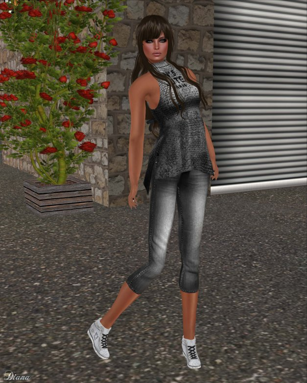 Immerschoen - BC Turtleneck Top No5 Jute silver and BC Mesh High Sneakers silver No5 Paris