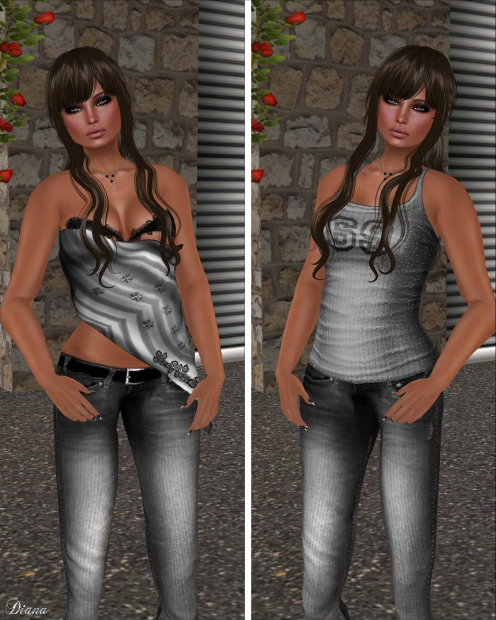 Immerschoen-BodyCult - Mesh Partial TopSecret and Mesh Knit Top Clare 69 silver