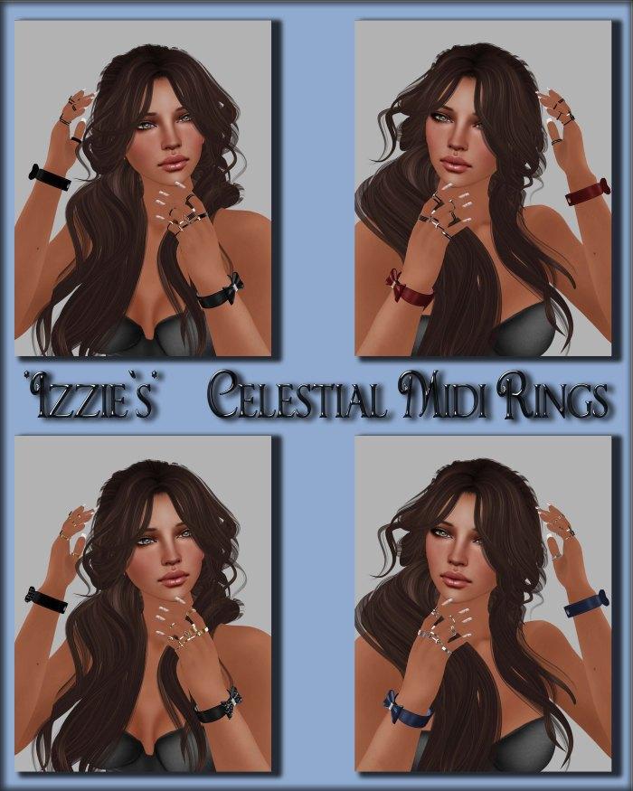 Izzie's - Celestial Midi Rings