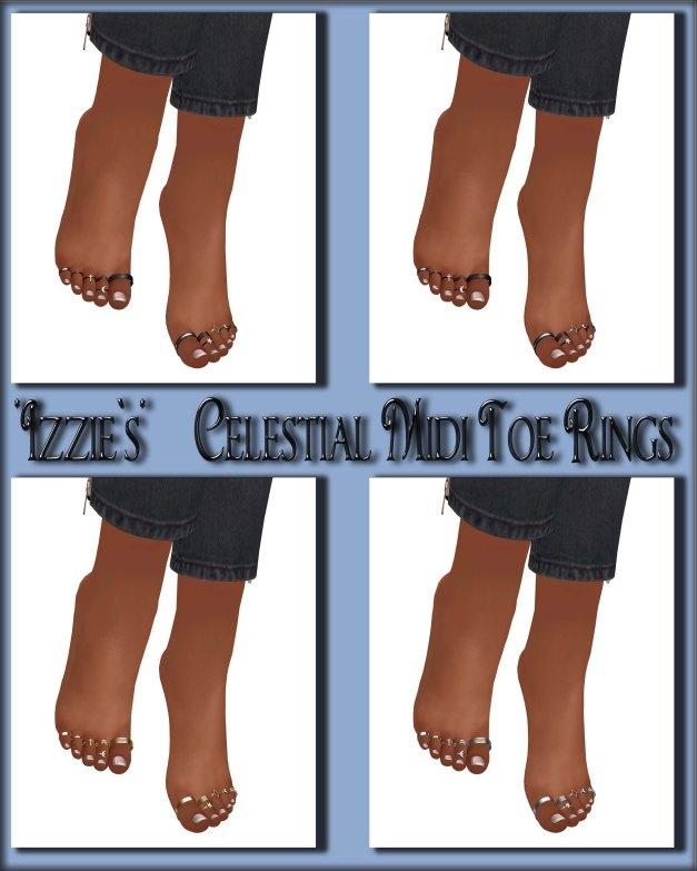 Izzie's - Celestial Midi Toe Rings