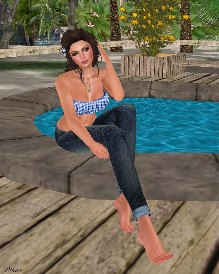 Just BECAUSE - SC RuffleBikiniTop and Cuffed Jeans-1