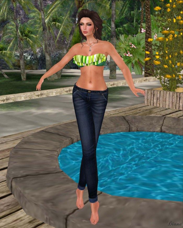 Just BECAUSE - SC RuffleBikiniTop and Cuffed Jeans-3