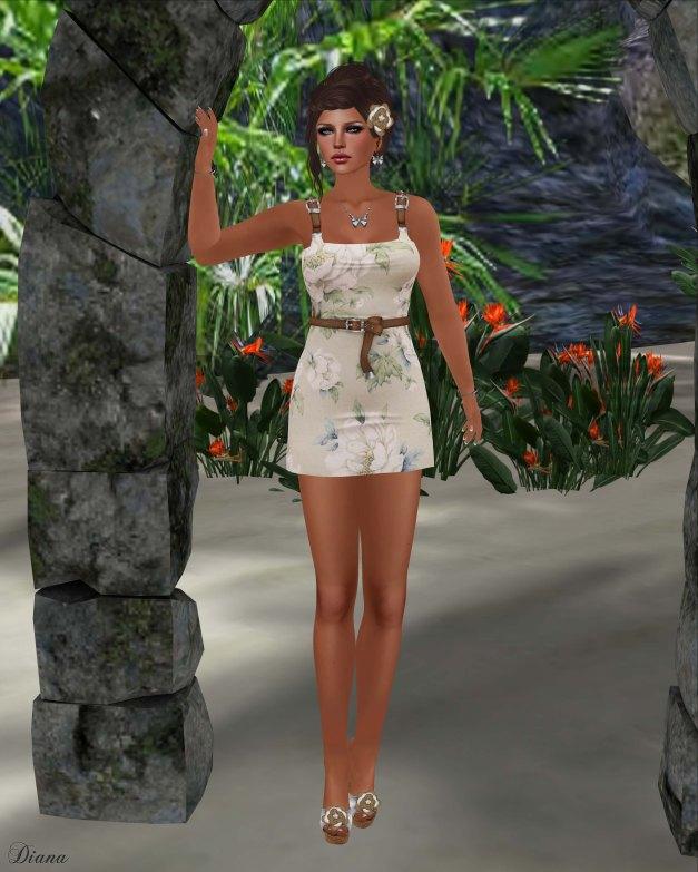 !Rebel Hope - Summer Vacation Mesh Dress Antique Rose