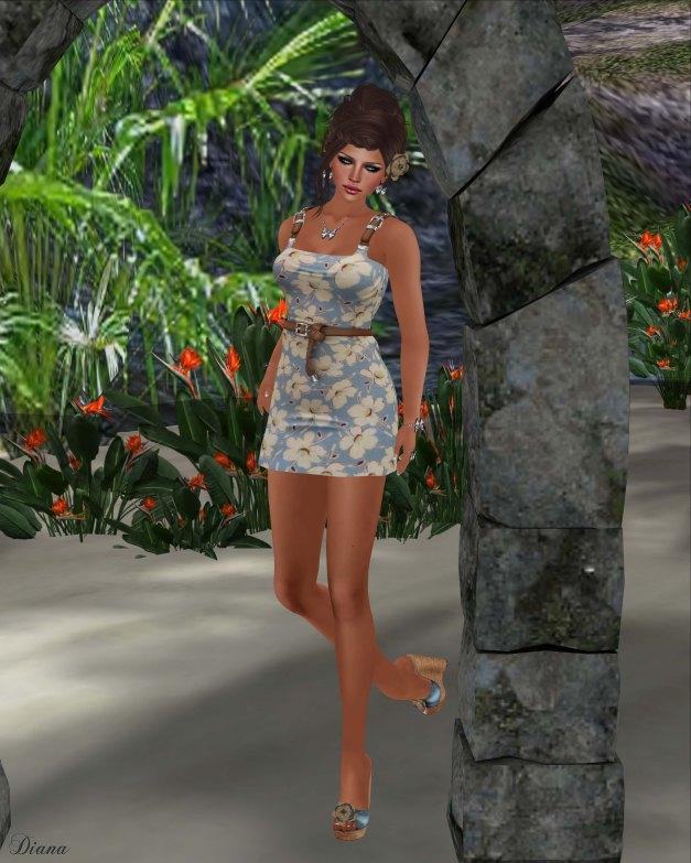 !Rebel Hope - Summer Vacation Mesh Dress Magnolia