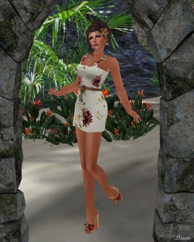 !Rebel Hope - Summer Vacation Mesh Dress Peony
