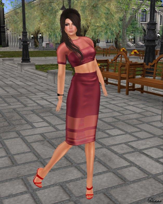 Baiastice - Ilary Dress-Red