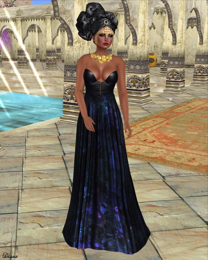 Baiastice - Lekha Dress-Midnight
