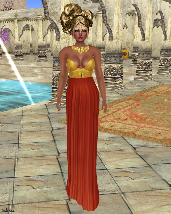 Baiastice - Lekha Dress-Turmeric
