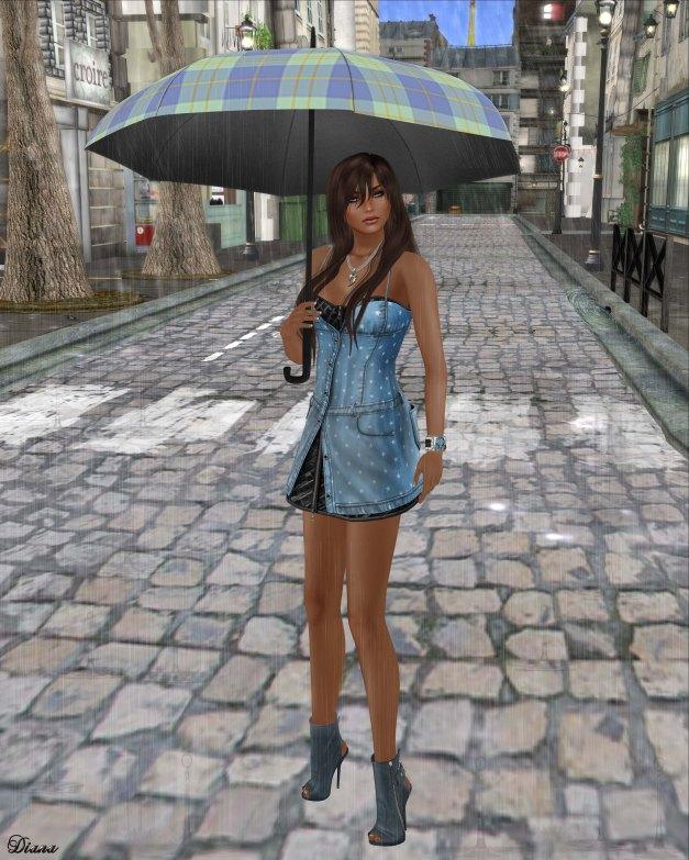 Gabriel - Maria Denim Dress LightBlue