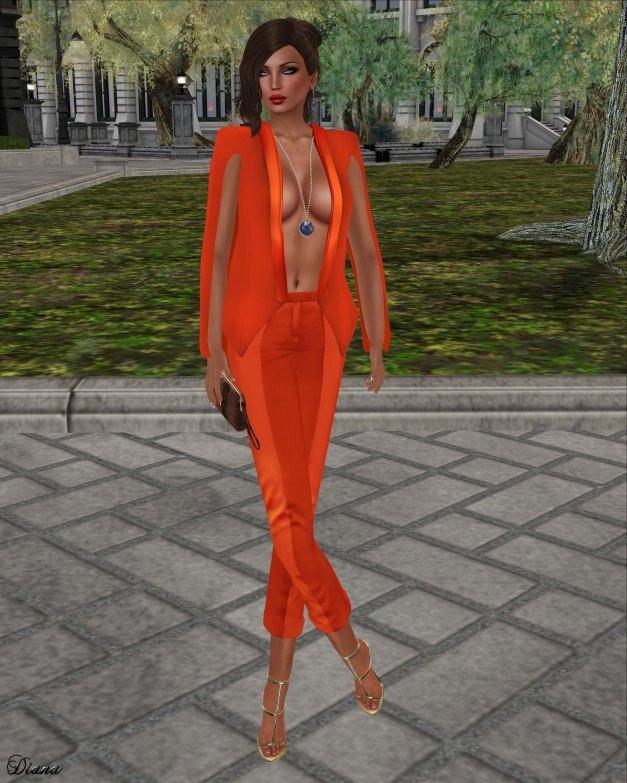 GizzA - Petra Jacket and Pants Orange