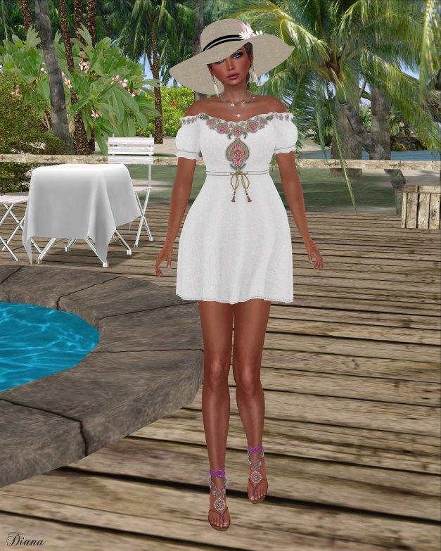 !Rebel Hope - So Beachy Mesh Dress-1