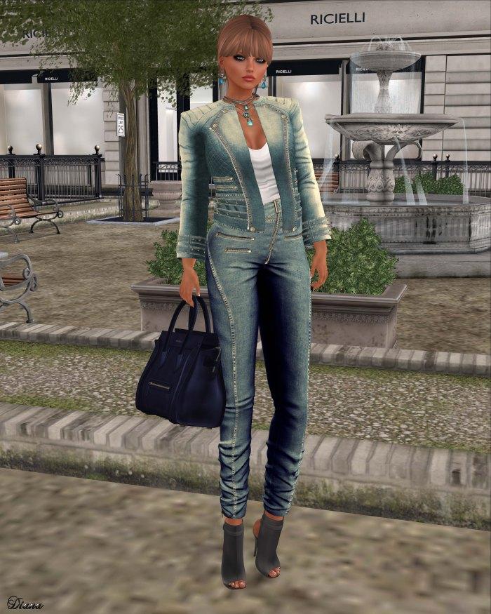 Ricielli - Roya Denim Jacket and Moira Denim Pants Light Wash