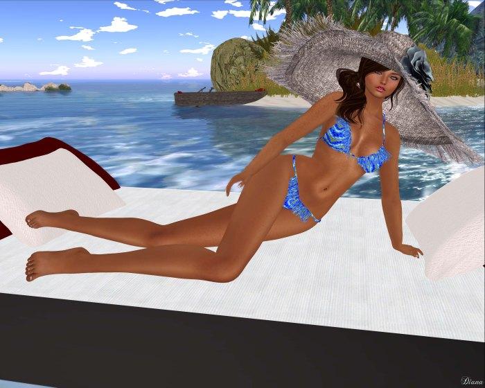 Baiastice - Fringe Micro Bikini-Print Hipster