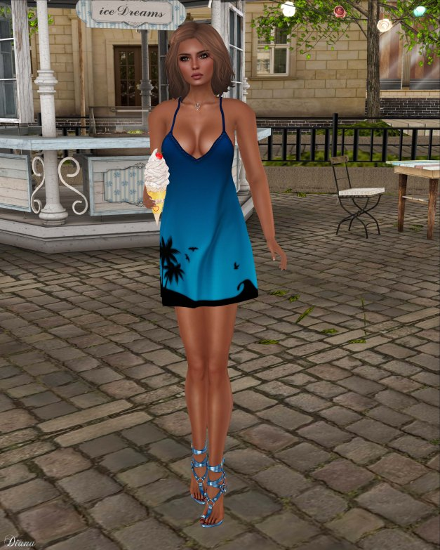 coldLogic - dress sura azure