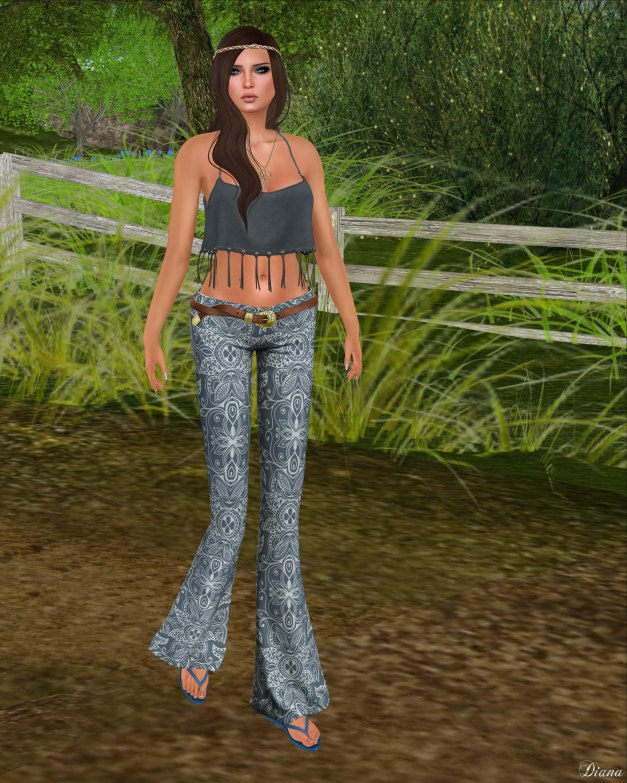 Addams - Suede Foxy Top and Ivy Skinny Flare Pants wBelt