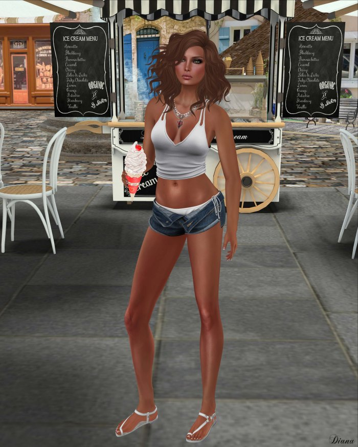 Blueberry - Lana Rolled Shorts & Bikini-1