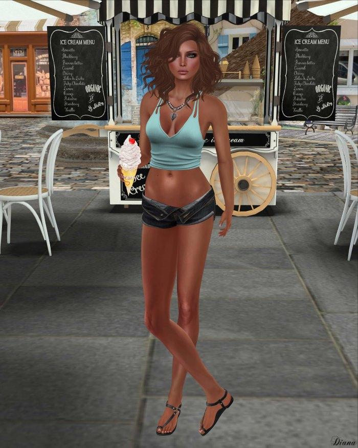 Blueberry - Lana Rolled Shorts & Bikini-2
