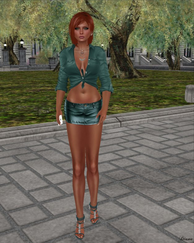 Blueberry - Miri Leather Skirt-2