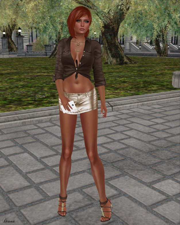 Blueberry - Miri Leather Skirt-3