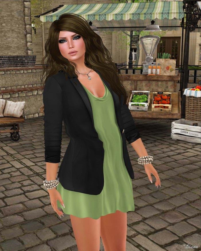 GizzA - Molly Blazer Dress (Black - White)-2