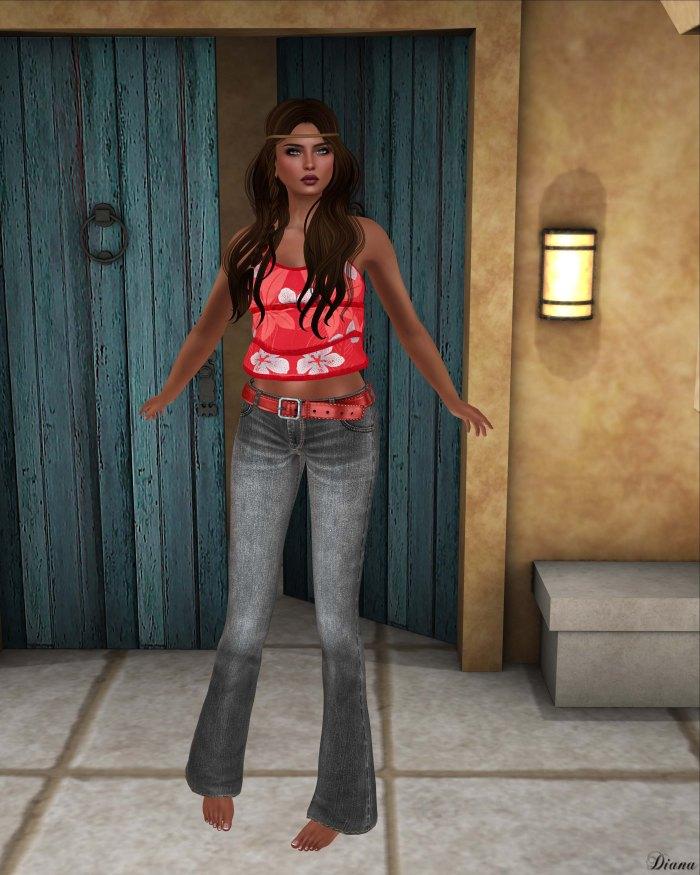 Lapointe & Bastchild - S'Wear Flare Denim Jeans with Belt-2