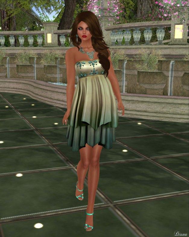 League - Sylph Dress -Moss-1