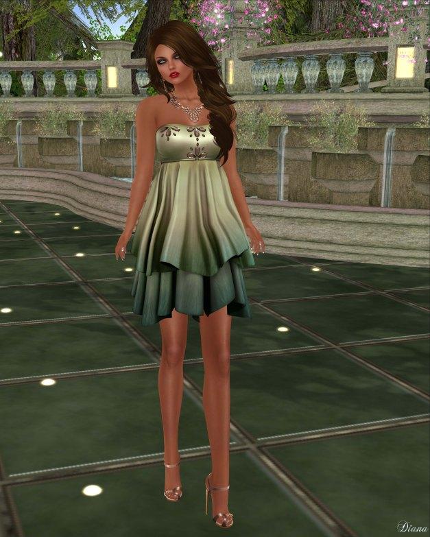 League - Sylph Dress -Moss-2