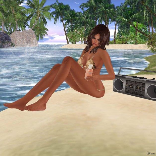 miss chelsea - Chain Bikini Gold Sequin