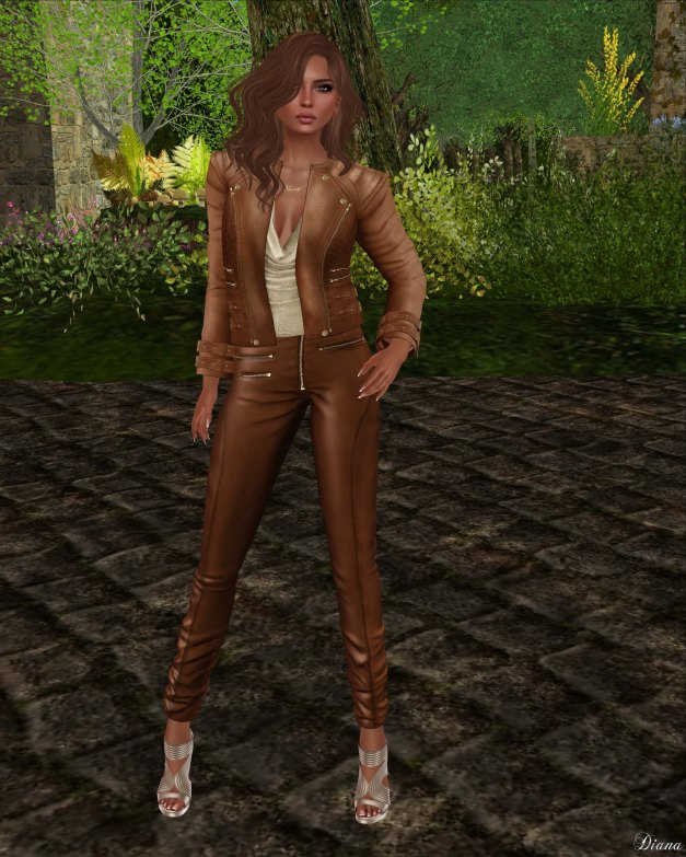Ricielli - Roya Leather Jacket and Moira Leather Pants Caramel